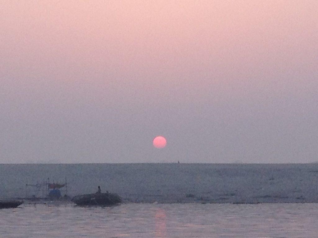 ガンジス川の夕日2