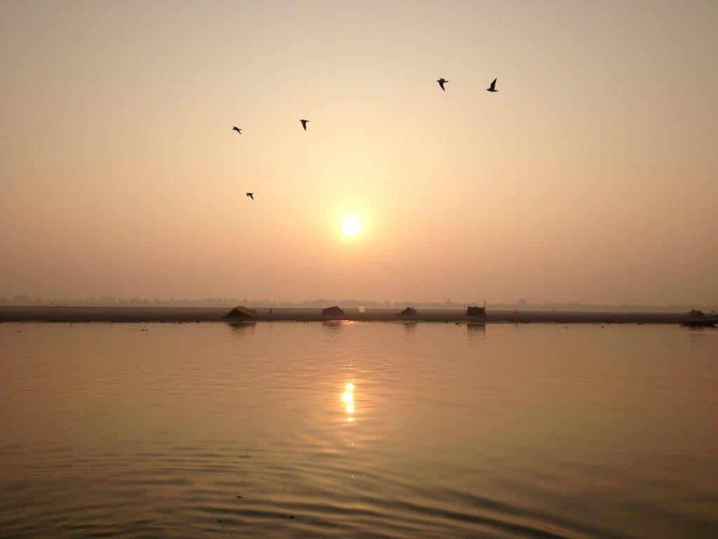 ガンジス川の夕日1